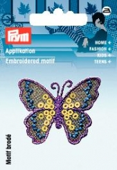 Applikation Schmetterling mit Pailletten