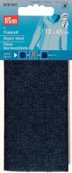 Flickstoff Jeans dunkelblau