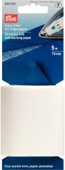 Saum-Vlies mit Trägerpapier 75mm