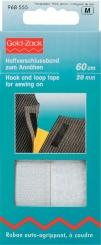 Haftverschlussband weiß 60cm