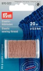 Elastic-Nähfaden sand