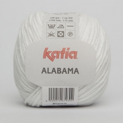 Alabama Wolle von Katia 01 Blanco