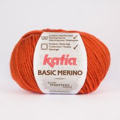 Basic Merino Wolle von Katia 20 Naranja quemada
