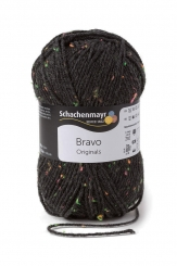 Bravo Wolle Schachenmayr 8329 anthrazit neon tweed