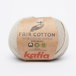 Fair Cotton Organic Wolle von Katia 11 Perla