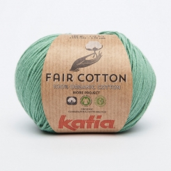 Fair Cotton Organic Wolle von Katia 17 Verde Menta