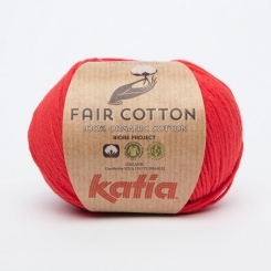 Fair Cotton Organic Wolle von Katia 04 Rojo