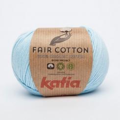 Fair Cotton Organic Wolle von Katia 08 Celeste
