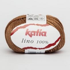 Lino 100% von Katia 24 Marrón