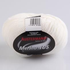 Merino 105 Wolle Austermann 301 weiß