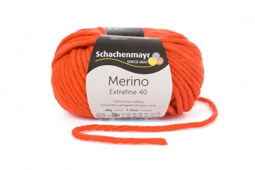 Merino Extrafine 40 Wolle Schachenmayr 00325 orange
