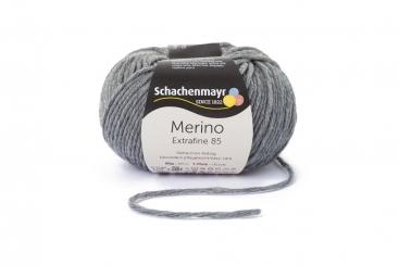 Merino Extrafine 85 Wolle Schachenmayr 00292 mittelgrau meliert