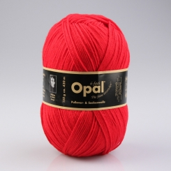 Opal 150g 6-fädig Uni Sockenwolle 7900 rot