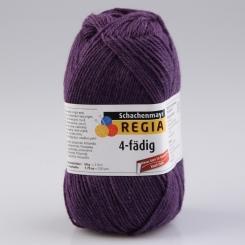 Regia 4-fädig Uni Sockenwolle 2205 pflaume