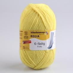 Regia 150g-Knäuel 6-fädig Uni Sockenwolle 06343 limone