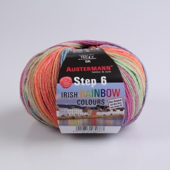 Step 150g 6-fädig Irish Color Sockenwolle Austermann 624 ferbane