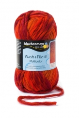 Wash+Filz-it! Multicolor Filzwolle Schachenmayr 00205 romance