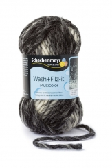 Wash+Filz-it! Multicolor Filzwolle Schachenmayr 00209 black-grey