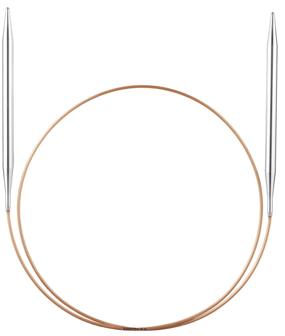 Goldseil Addi Rundstricknadel 50cm 4,5mm Messingspitze